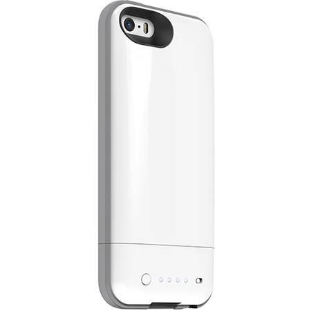 Acumulator extern Mophie iPhone 5s / 5 space pack - Husa cu acumulator 1700mAh si memorie 16GB - alb
