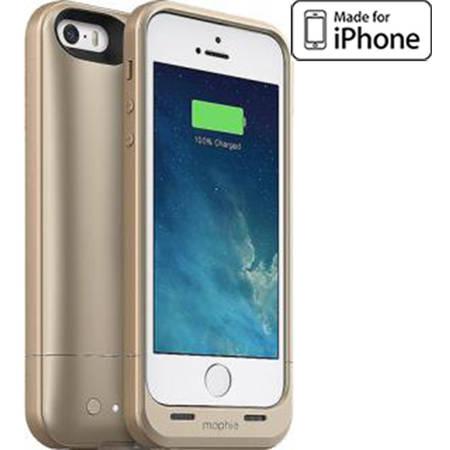 Acumulator extern Mophie iPhone 5s / 5 space pack - Husa cu acumulator 1700mAh si memorie 16GB - auriu