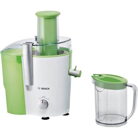 Storcator Bosch MES25G0 700 W Recipient suc 1.25 l Recipient pulpa 2 l 2 Viteze Tub de alimentare 73 mm Alb/Verde