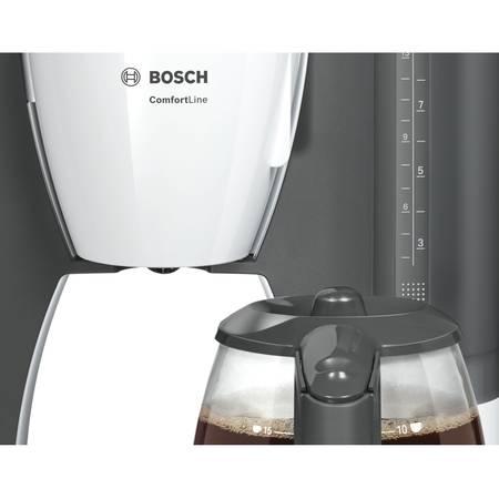 Cafetiera Bosch TKA6A041 Alb/ Gri închis cana sticla