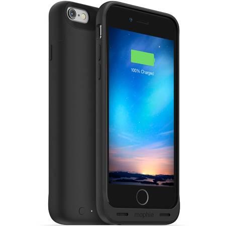 Acumulator extern Mophie Juice Pack Plus - Baterie externa 3300 mAh + Husa pentru iPhone 6 / 6s - negru
