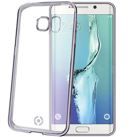 Bumper Celly BCLS6EDS Laser Cover Transparent pentru SAMSUNG Galaxy S6 Edge