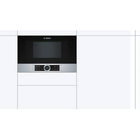 Cuptor cu microunde Bosch BFL634GS1 21 l 900 W 7 Programe Inel rotativ Touch control Display TFT Inox