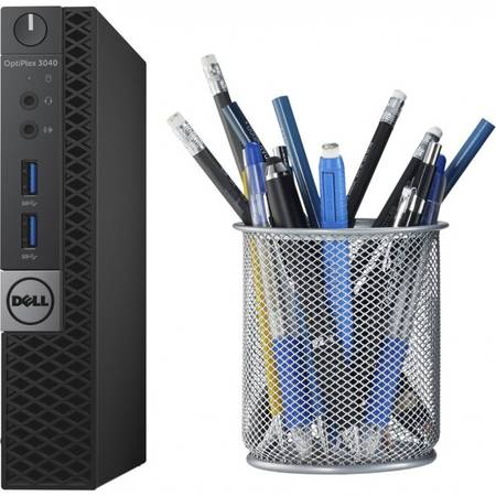 Sistem desktop Dell Optiplex 3040 Micro Intel Core i3-6100T 4GB DDR3 128GB SSD Windows 10 Pro Black