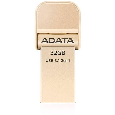 Memorie USB Adata i-Memory Flash Drive AI920 32GB USB 3.1 Gold