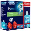 Pachet Oral-B Pro500 Cross Action + Apa de gura Oral B Pro-Expert 500ml + Ata dentara Satin Floss 25m + Pasta de dinti Blend-a-Med Pro-Expert 100ml