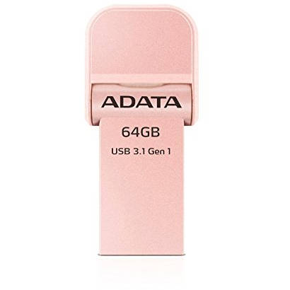 Memorie USB ADATA i-Memory Flash Drive AI920 64GB USB 3.1 Rose Gold