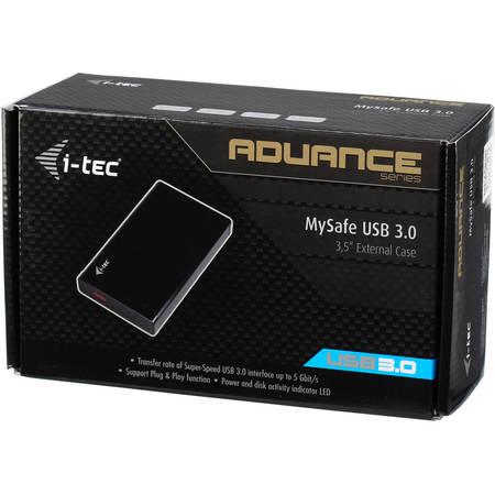 """Rack HDD Itec extern din aluminiu 3,5"""" pentru SATA si SSD USB 3.0 black"""