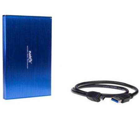 Rack HDD Natec RHINO LTD pentru HDD/SSD 2.5inch  Aluminum  Blue  Slim