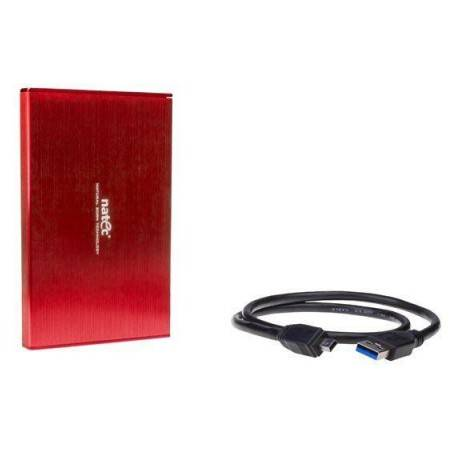 Rack HDD Natec RHINO LTD for 2.5 SATA - USB 3.0 Aluminum Red
