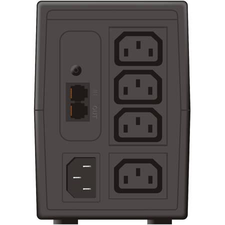 UPS Mustek POWERMUST 848 LCD 850 VA Black
