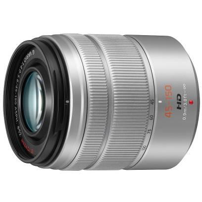 Obiectiv Panasonic LUMIX G VARIO 45-150mm f/4-5.6 ASPH. MEGA O.I.S. Silver montura Micro Four Thirds