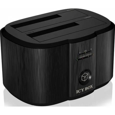 Rack HDD RaidSonic Docking station Icy Box  2x 2.5 inch 3.5inch neagra