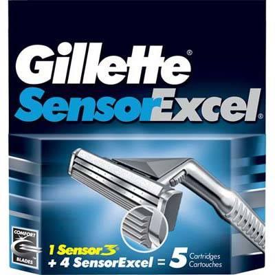 Rezerva aparat de ras Gillette Sensor Excel 5 buc