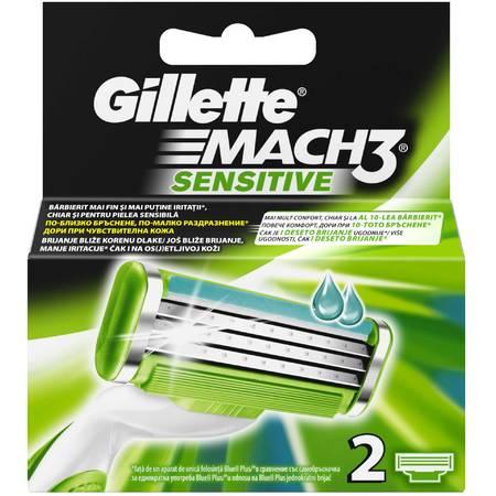 Rezerva aparat de ras Gillette Mach3 Sensitive 2 buc