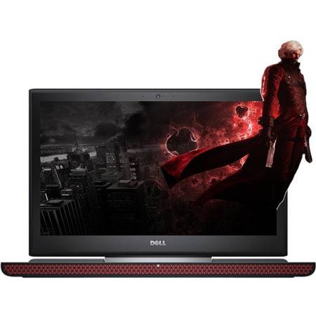 Laptop Dell Inspiron 7566 15.6 inch Ultra HD Intel Core i7-6700HQ 8GB DDR4 1TB HDD 256GB SSD nVidia GeForce GTX 960M 4GB Backlit KB Windows 10 Black