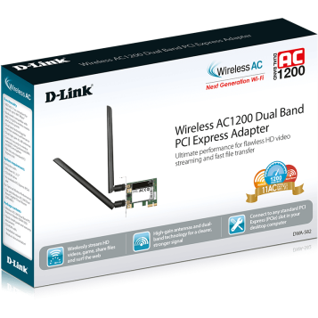 Placa de retea wireless DLink DWA-582