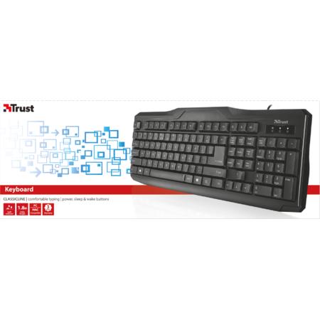 Tastatura Trust Us Classicline Keyboard Black