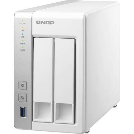 NAS Qnap TS-231 ARM Cortex-A9 1.2GHz 2 Bay 1 x LAN 3 x USB