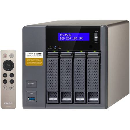 Network attached storage Qnap TS-453A-4G Intel Quad-Core N3150 1.6GHz 4 Bay 4 x LAN 4 x USB