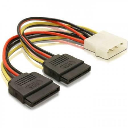 Qoltec cablu adaptor 20cm POWER MOLEX/2xSATA