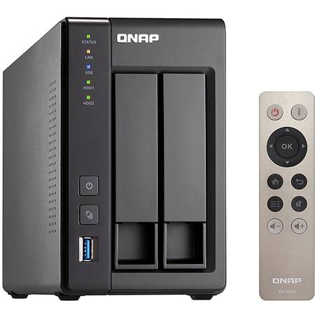 Network attached storage Qnap TS-251+-2G Intel Celeron Quad-Core 2.0GHz 2 GB 2 Bay 4 x USB