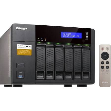 NAS Qnap TS-653A-4G Intel Celeron 1.6GHz 4GB 6 Bay 4 x USB