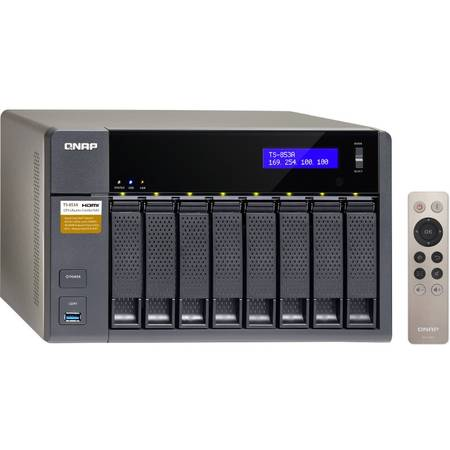 NAS Qnap TS-853A-4G Intel Celeron 1.6GHz 4GB 8 Bay 4 x USB