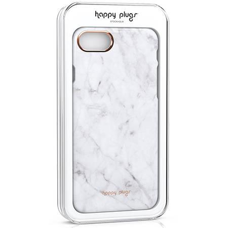 Husa Protectie Spate Happy Plugs 9135 Carrara Marble Alb pentru Apple iPhone 7