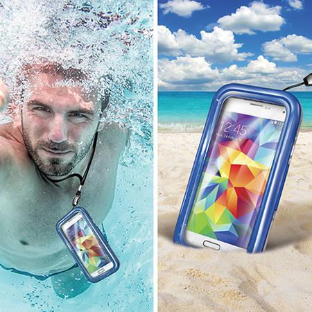 Husa Celly WPCSAM02 Rezistenta La Apa Albastru pentru SAMSUNG Galaxy S5