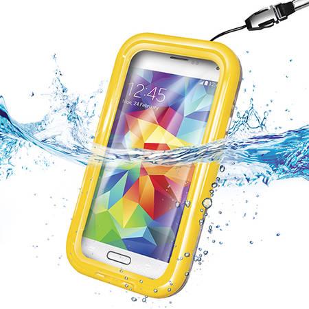 Husa Celly WPCSAM03 Rezistenta La Apa Galben pentru SAMSUNG Galaxy S5