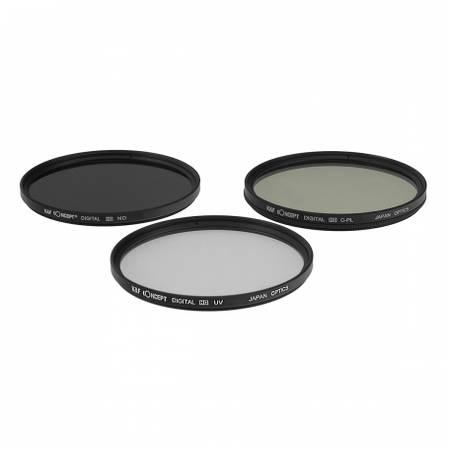 Filtru KentFaith UV + CPL + ND8 46mm