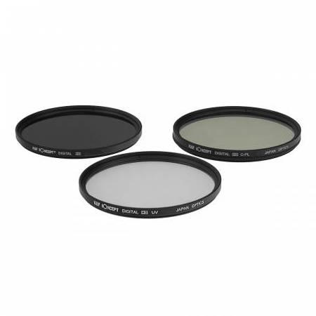 Filtru KentFaith UV + CPL + ND4 72mm