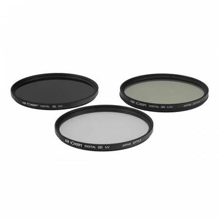 Filtru KentFaith UV + CPL + ND8 49mm
