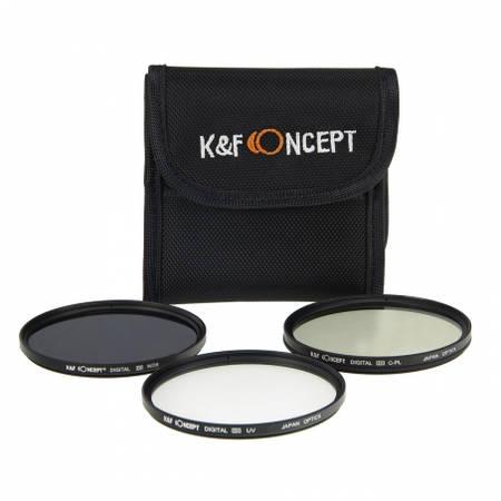 Filtru KentFaith UV + CPL + G-Gray 62mm