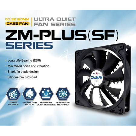 Ventilator Zalman ZM-F2 PLUS(SF) 92mm Shark Fin fan