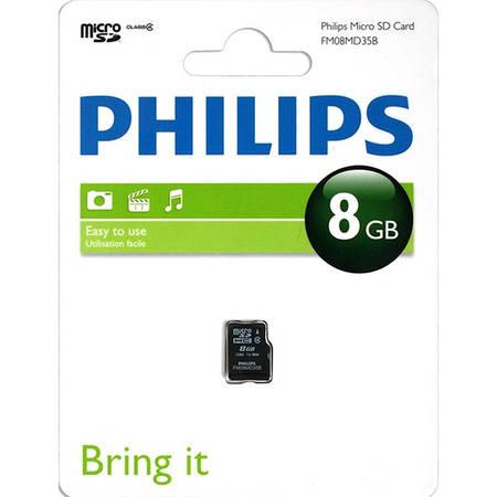 Card Philips microSDHC 8GB Clasa 4 cu adaptor SD