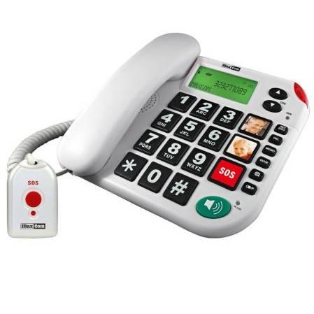 Telefon Fix MaxCom KXT481SOS White