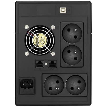 UPS LESTAR V-1500ff 1500VA / 900W Schuko FR LCD