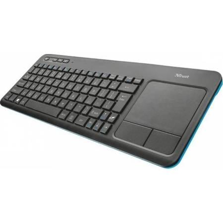 Tastatura Trust Veza Wireless cu touchpad black