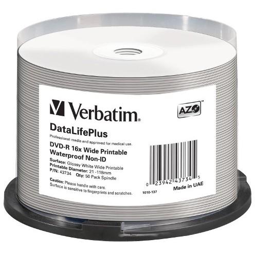 Mediu optic DVD-R AZO 4.7GB GLOSSY PRINTABLE WATERPROOF SURFACE thumbnail