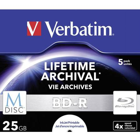 Mediu optic Verbatim M-DISC BD-R 25 GB INKJET PRINTABLE