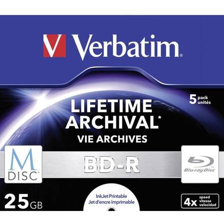 Mediu optic Verbatim M-DISC BD-R 25 GB INKJET PRINTABLE