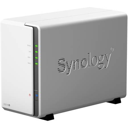 NAS Synology DS216j Marvell Armada 385 88F6820 Dual-Core 1GHz 512 MB 2 Bay 2 x USB
