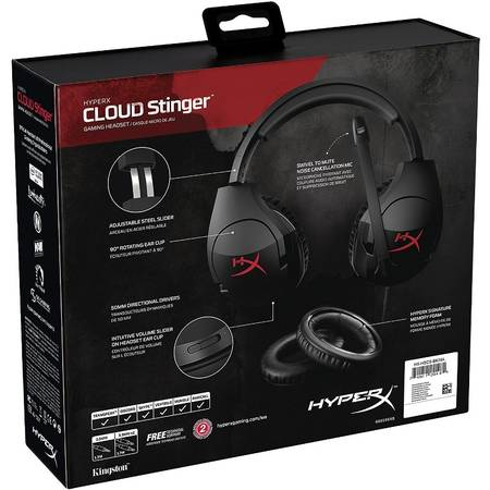 Casti HyperX Cloud Stinger Black