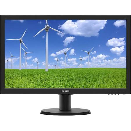 Monitor Philips LED  243S5LSB/00 Full HD 23.6 inch 5ms Black