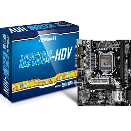 Placa de baza Asrock B250M-HDV Intel LGA1151 mATX