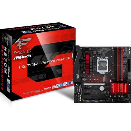 Placa de baza Asrock Fatal1ty H270M Performance Intel LGA1151 mATX