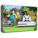 Consola Microsoft Xbox One S 500GB cu Minecraft
