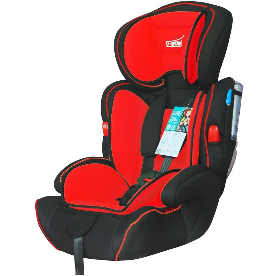 Scaun auto ajustabil BXS-208GR 9 - 36 kg negru / rosu thumbnail
